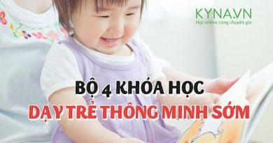 Bộ 4 khóa học dạy trẻ thông minh sớm