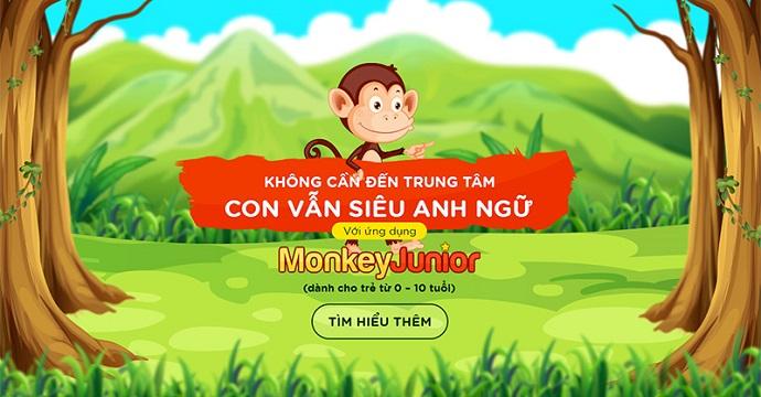 Cùng con học tiếng Anh với Monkey Junior