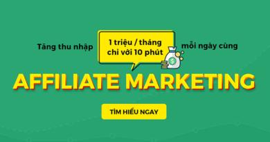 10 phút mỗi ngày kiếm thêm 1tr/tháng với Affiliate Marketing