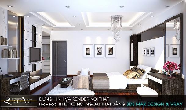 Dựng hình và Render Ngoại Thất bằng 3DS MAX