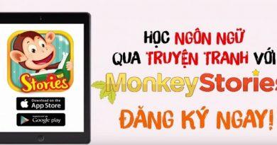 Monkey Stories - Học tiếng Anh qua truyện cho bé - Gói 1 năm