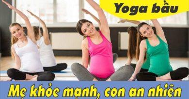 Yoga cùng mẹ bầu khỏe mạnh