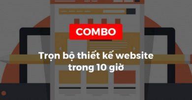 Combo Trọn bộ khóa học thiết kế website trong 10 giờ