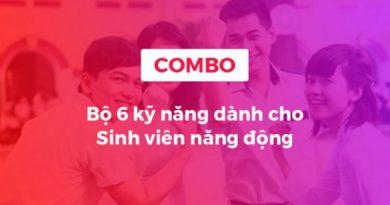 Combo khóa học 6 kỹ năng dành cho sinh viên năng động