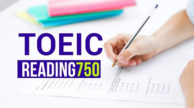 Toeic Reading 750