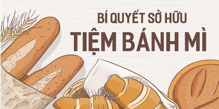Bí quyết sở hữu tiệm bánh mì