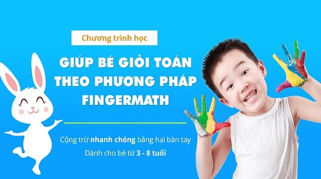 Combo khóa học bé vui học toán theo phương pháp FINGERMATH