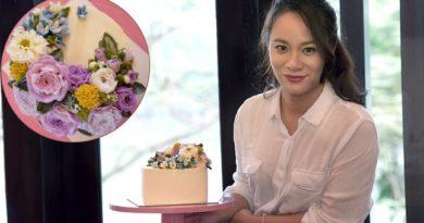 Bánh hoa kem bơ hoa hồng bồng bềnh