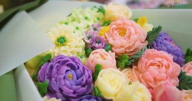 Tạo hình bó hoa từ bánh kem bơ đẹp không tì vết