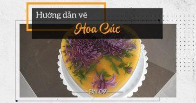 Thạch rau câu 3D Cúc đại đóa tím mix đế cốt dừa lá dứa siêu ngon