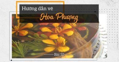 Thạch rau câu 3D Vẽ hoa phượng mix sắc đỏ vàng rực nắng nồng nàn cốt chanh leo