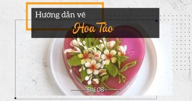 Thạch rau câu 3D Vẽ hoa táo yêu kiều - đế mứt dâu - xoài chín thơm lành, ngọt mát