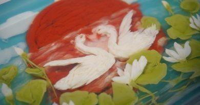 Thạch rau câu 3D nâng cao Tạo hình đôi chim Thiên nga