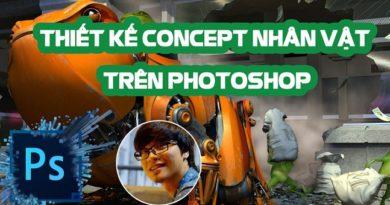 Thiết kế Concept nhân vật trên Photoshop