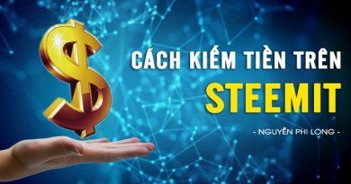 Cách kiếm tiền trên Steemit