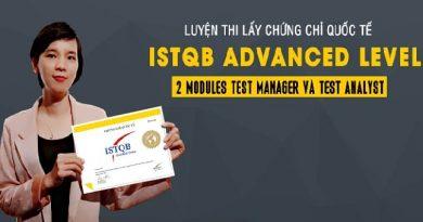 Luyện thi lấy chứng chỉ quốc tế ISTQB Advanced Level (2 modules Test manager và Test Analyst)