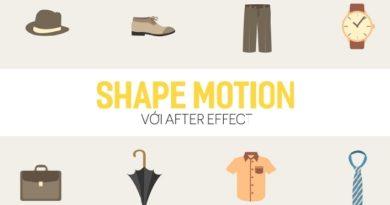 Shape motion với After effect
