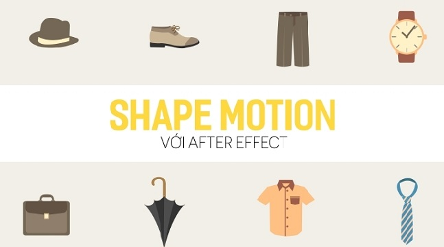 Shape motion với After effect