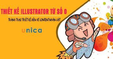 Thiết kế illustrator từ số 0 – Thành thạo thiết kế đến vẽ content nhân vật