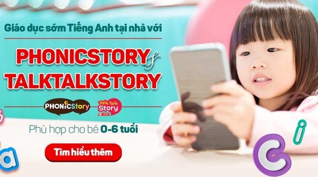 Giáo dục sớm tiếng Anh tại nhà với PhonicStory - TalkTalkStory