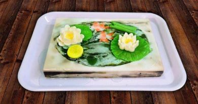 Mê mẩn với hồ cá hoa sen từ rau câu sơn thủy - Hướng dẫn làm rau câu sơn thủy nâng cao