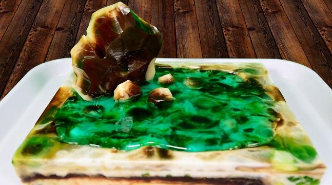 Rau câu sơn thủy nâng cao - Hướng dẫn làm mẫu bánh hòn non bộ hữu tình