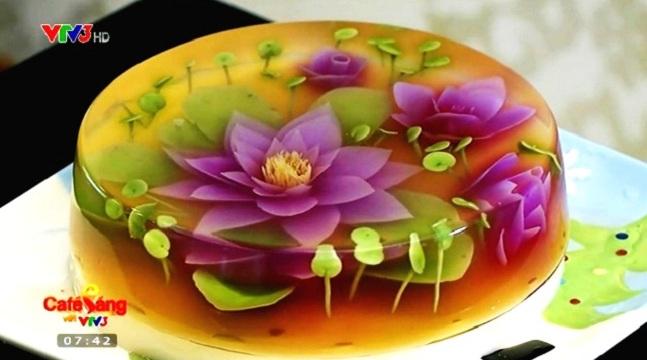 Làm bánh thạch rau câu 3D với 10 loại hoa tuyệt đẹp