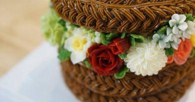 Combo cốt bánh ngon, trang trí đẹp Bánh số + Giỏ hoa kem bơ (tặng khóa Cake Pop xinh yêu)