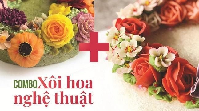 Combo xôi hoa nghệ thuật Xôi hoa đậu Hàn Quốc + Xôi hoa đậu cán-2