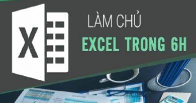 Làm chủ Excel trong 6h