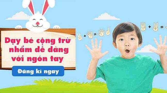 Dạy bé cộng trừ nhẩm dễ dàng với ngón tay