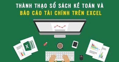 Thành thạo sổ sách kế toán và báo cáo tài chính trên Excel