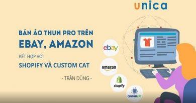 Bán áo thun Pro trên Ebay, Amazon kết hợp với Shopify và Custom Cat