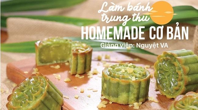Làm bánh trung thu homemade CƠ BẢN cùng Nguyệt VA – Mooncake Bakingfun