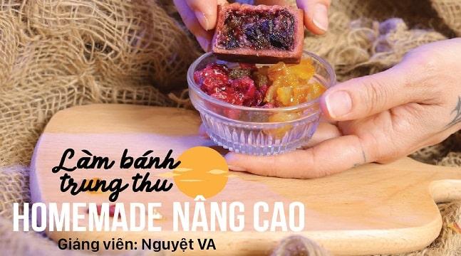 Làm bánh trung thu homemade NÂNG CAO cùng Nguyệt VA – Mooncake Bakingfun