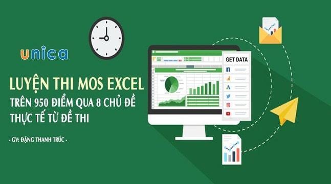 Luyện Thi Mos Excel trên 950 điểm qua 8 chủ đề thực tế từ đề thi