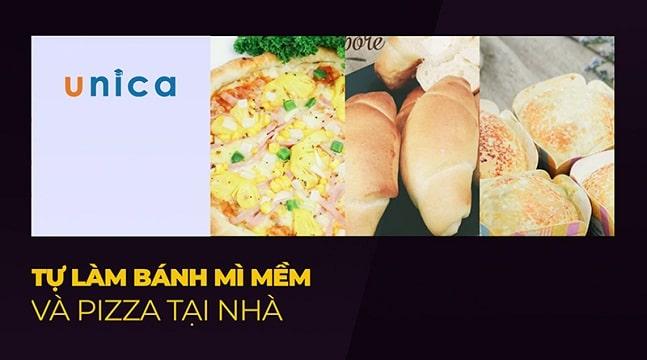 Tự làm bánh mì mềm và pizza tại nhà