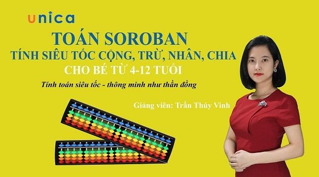 Toán Soroban - tính siêu tốc cộng, trừ, nhân, chia cho bé từ 4-12 tuổi